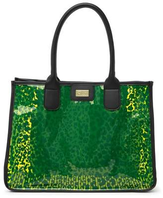 Betsey Johnson LUV BETSEY BY Karly Clear Animal Print Tote