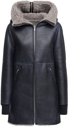 Rick Owens Zip-Up Leather Parka