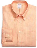 Brooks Brothers Regent Fit Solid Linen Sport Shirt
