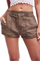 Free People Beacon Utility Linen Shorts