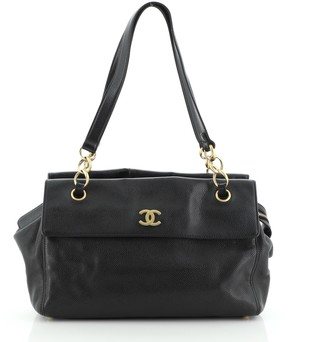 Chanel Vintage Double Sided Zip Tote Caviar Medium
