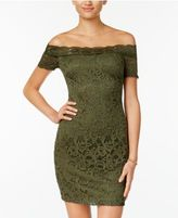 B. Darlin Juniors' Off-The-Shoulder Lace Dress