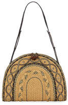 Eric Javits Jiva Straw Half-Moon Shoulder Bag
