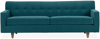 One Kings Lane Ella Sofa - Peacock Crypton - frame, washed oak; upholstery, peacock