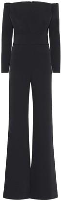 Safiyaa Off-shoulder stretch-crApe jumpsuit
