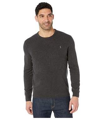 Polo Ralph Lauren Long Sleeve Washable Cashmere Sweater (Dark Granite Heather) Men's Clothing
