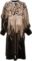Alena Akhmadullina Mink & Fox Fur A-Line Coat