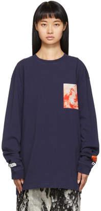 Heron Preston Blue Heron Patch Long Sleeve T-Shirt