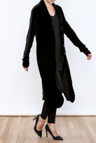 Black Label Mixed Fabric Trench