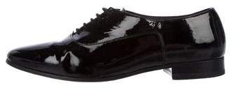 Saint Laurent Patent Leather Pointed-Toe Oxfords