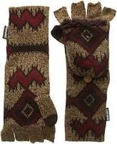 Muk Luks Women's Gaucho Girl Long Flip Mittens-Zig Zag Tribal