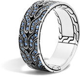 John Hardy Classic Chain Band Ring with Black Sapphire