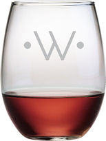 JCPenney 1 Letter With Dots Monogrammed Stemless Wine Glasses