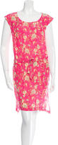 Suno Floral Print Asymmetrical Dress
