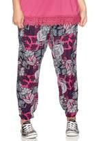 M&Co Plus floral print patchwork trousers
