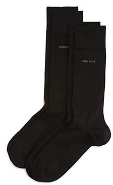 BOSS Solid Dress Socks - Pack of 2