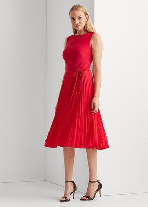 Ralph Lauren Pleated Georgette Dress