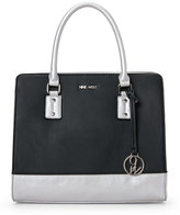 Nine West Black & Silver You & Me Satchel