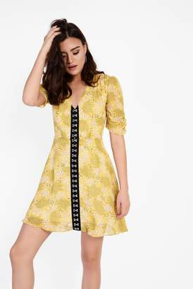 Glamorous Womens **Floral Contrast Dress By Yellow