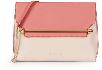 Strathberry East/West Stylist Bi-Color Leather Crossbody Bag