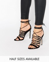 Asos HURRICANE Lace Up Heeled Sandals