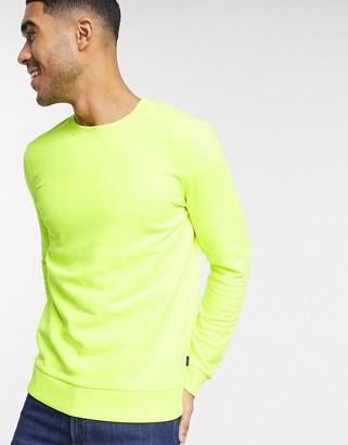 Esprit sweatshirt in neon yellow