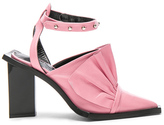 Marques Almeida Marques ' Almeida Point Frill Leather Heels in Pink.