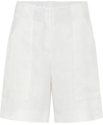 Loro Piana Truman high-rise linen shorts