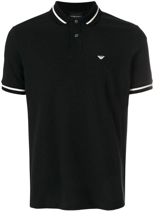 Emporio Armani stripe-trimmed polo shirt
