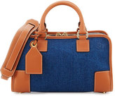 Loewe Amazona 28 Denim Satchel Bag