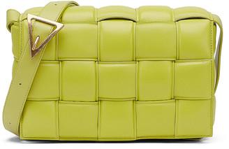 Bottega Veneta Padded Cassette Crossbody Bag in Kiwi & Gold | FWRD