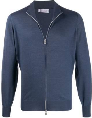 Brunello Cucinelli mottled zip cardigan