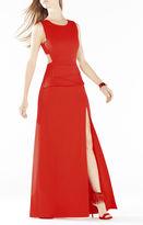 BCBGMAXAZRIA Kiara Sleeveless Peplum Gown