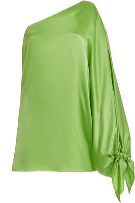 Bernadette Antwerp Linda One-Shoulder Silk Mini Dress