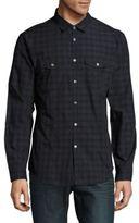 John Varvatos Midnight Gingham Check Slim-Fit Shirt