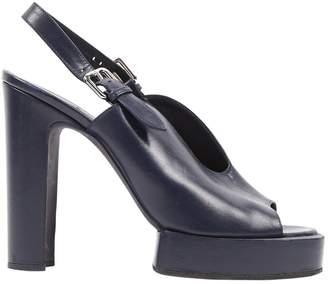 Jil Sander Navy Leather Sandals