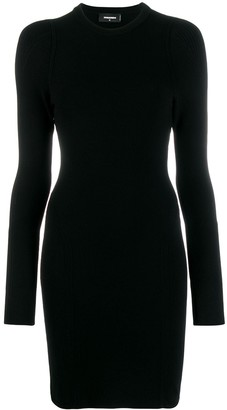 DSQUARED2 Long Sleeve Fitted Dress