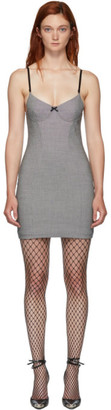 Alexander Wang Black and White Houndstooth Dress