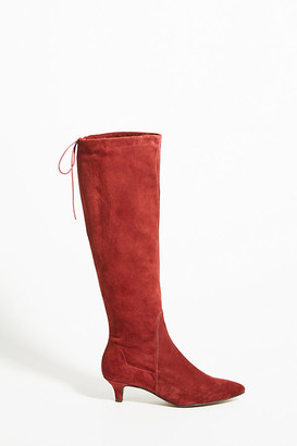 Anthropologie Vivian Knee-High Boots By in Purple Size 37