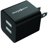 chargeworx Black Dual USB Wall Charger