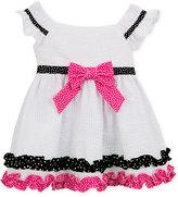 Rare Editions Seersucker Ruffle Dress, Baby Girls (0-24 Months)