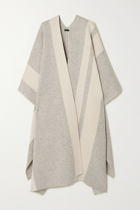 Joseph Striped Wool-blend Cape - Gray