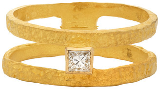 ELHANATI Gold VVS Diamond Roxy Graphic Ring
