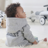 My 1st Years Grey Hooded Jersey Onesie