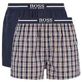 Hugo Boss Two-pack of cotton boxer shorts with logo waistband