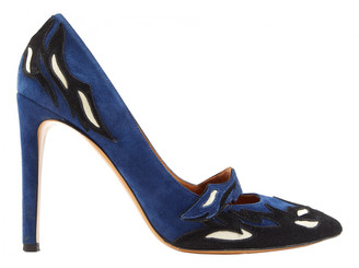 Isabel Marant Blue Suede Heels