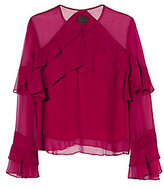 Exclusive for Intermix Melly Ruffle Keyhole Blouse
