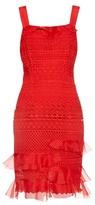 Oscar de la Renta Guipure-lace sleeveless dress