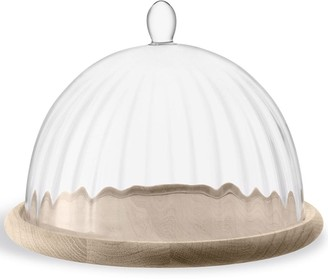 LSA International Aurelia glass dome and oak base