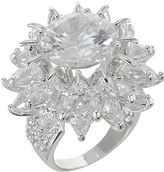Kenneth Jay Lane FINE JEWELRY CZ by Floral Statement Ring